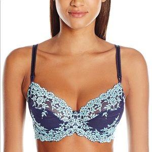 New w Tags WACOAL Embrace Lace Bra Blue Aqua 36DDD